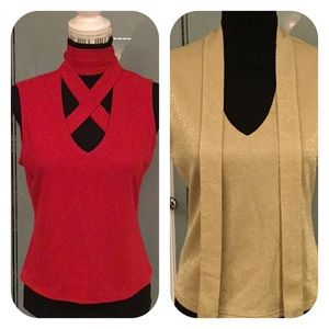 2 Express World Brand 1 Red 1 Gold both Size Large